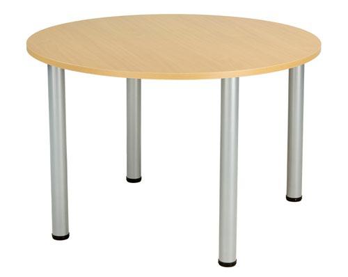 One Fraction Plus 1000 Circular Meeting Table Nova Oak