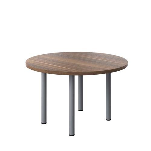 One Fraction Plus 1200 Circular Meeting Table Dark Walnut