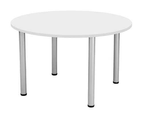 One Fraction Plus 1200 Circular Meeting Table White