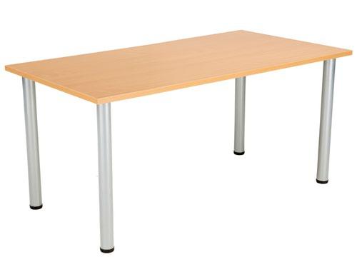 One Fraction Plus 1680 Rectangular Meeting Table Beech