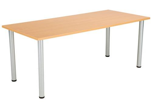 One Fraction Plus 1880 Rectangular Meeting Table Beech
