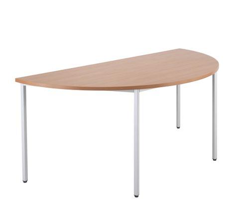 1600 X 800 Semi-Circular Multipurpose 18mm Table Desktop Beech - Version 2