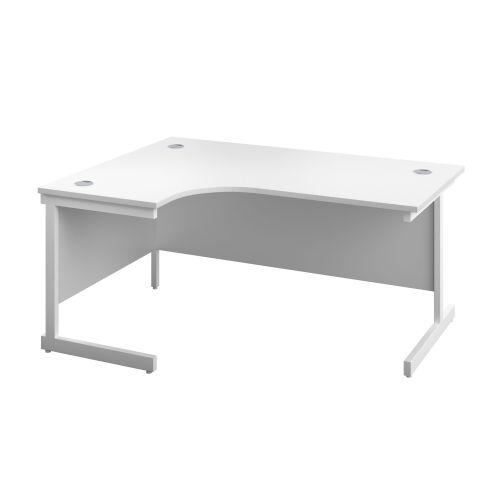Image for 1400X1200 Single Upright Left Hand Radial Desk White-White