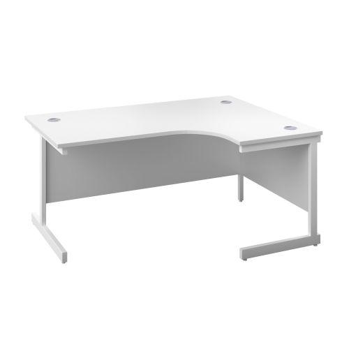 Image for 1400X1200 Single Upright Right Hand Radial Desk White-White