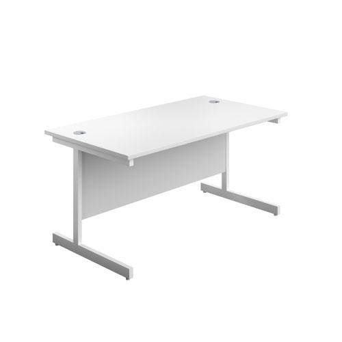 Image for 1600X600 Single Upright Rectangular Desk White-White