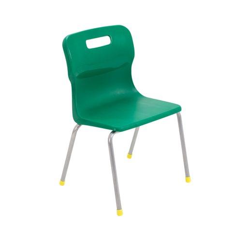 Titan 4 Leg Chair 350mm Green KF72181