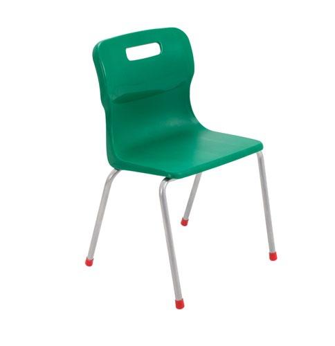 Titan 4 Leg Chair 380mm Green KF72186