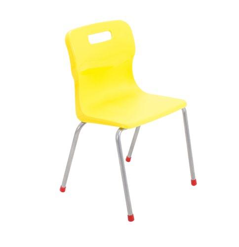Titan 4 Leg Chair 380mm Yellow KF72188