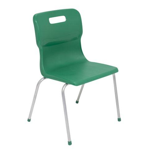 Titan 4 Leg Chair 430mm Green KF72191