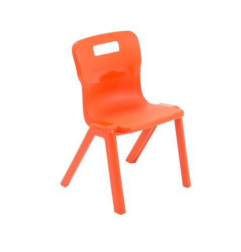 Titan One Piece School Chair Size 2 Orange