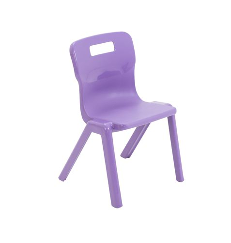 Titan One Piece School Chair Size 2 Purple KF78510