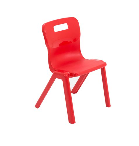 One Piece School Chair Size 2 310mm Red T2RED