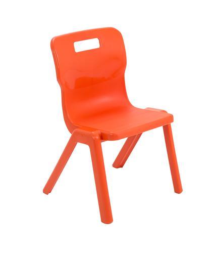 Titan One Piece Chair 350mm Orange KF78515