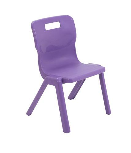 Titan One Piece Chair 350mm Purple