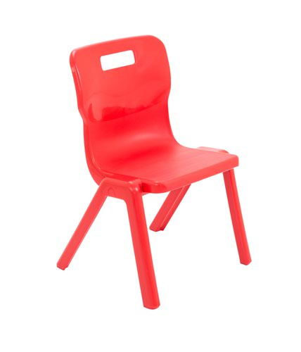 One Piece School Chair Size 3 350mm Red T3RED
