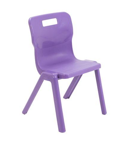Titan One Piece Chair 380mm Purple