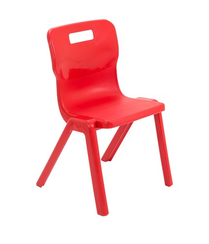 One Piece School Chair Size 4 380mm Red T4RED