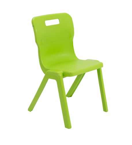 Titan One Piece Chair 430mm Lime