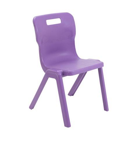 Titan One Piece Chair 430mm Purple