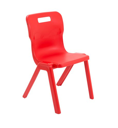 One Piece School Chair Size 5 430mm Red T5RED