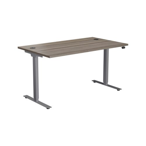 E Desk KD 1200 X 800 Grey Oak-Silver
