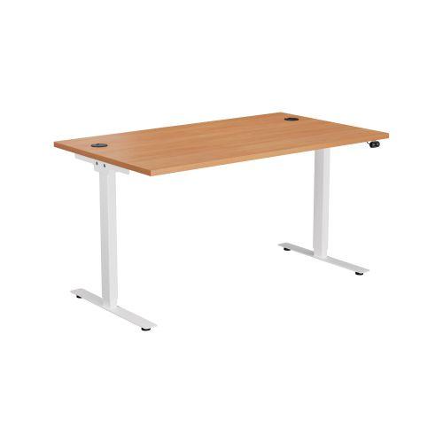 E Desk KD 1400 X 800 Beech-White