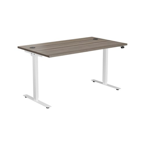 E Desk KD 1400 X 800 Grey Oak-White