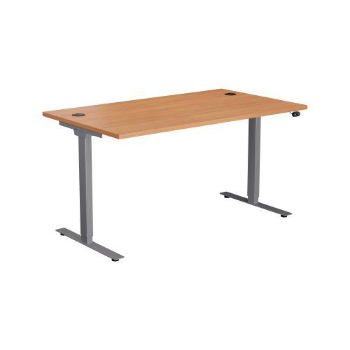 E Desk KD 1600 X 800 Beech-Silver