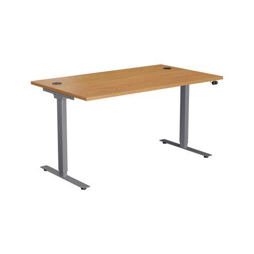 E Desk KD 1600 X 800 Nova Oak-Silver