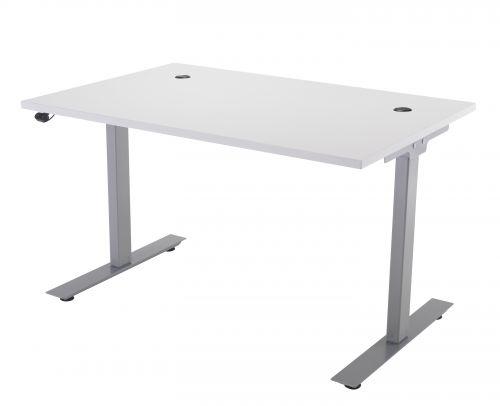 E Desk KD 1600 X 800 White-Silver