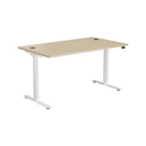 E Desk KD 1600 X 800 Maple-White