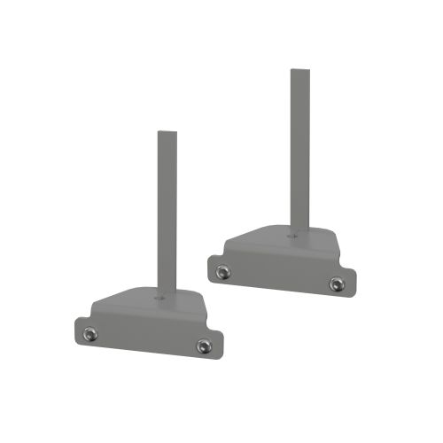 CB Fixed Screen End Bracket - Pair - Silver