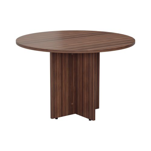 1100mm Round Meeting Table - Dark Walnut