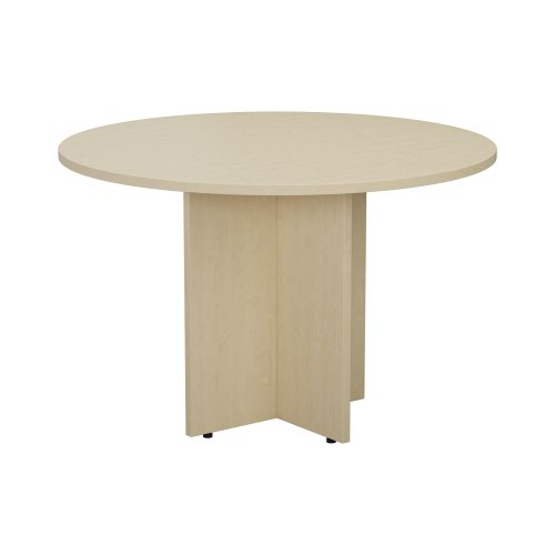1100mm Round Meeting Table - Maple