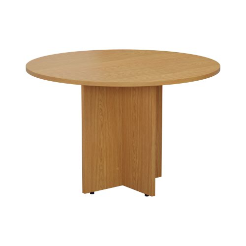 1100mm Round Meeting Table - Nova Oak