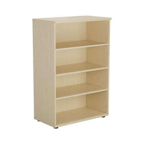 1200 Wooden Bookcase (450mm Deep) Maple