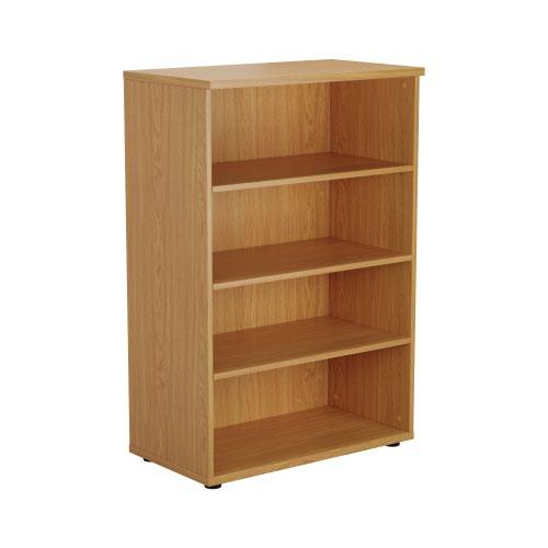 1200 Wooden Bookcase (450mm Deep) Nova Oak