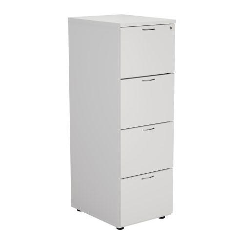 Image for 4 Drawer Filing Cabinet - White
