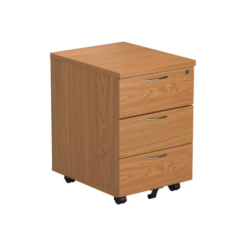 Image for 3 Drawer Mobile Pedestal - Nova Oak