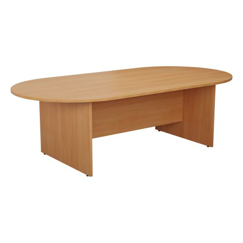 Image for 1800 x 1000mm D-End Meeting Table - Beech