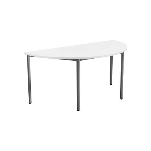 Summit Semi Circular Meeting Table - White