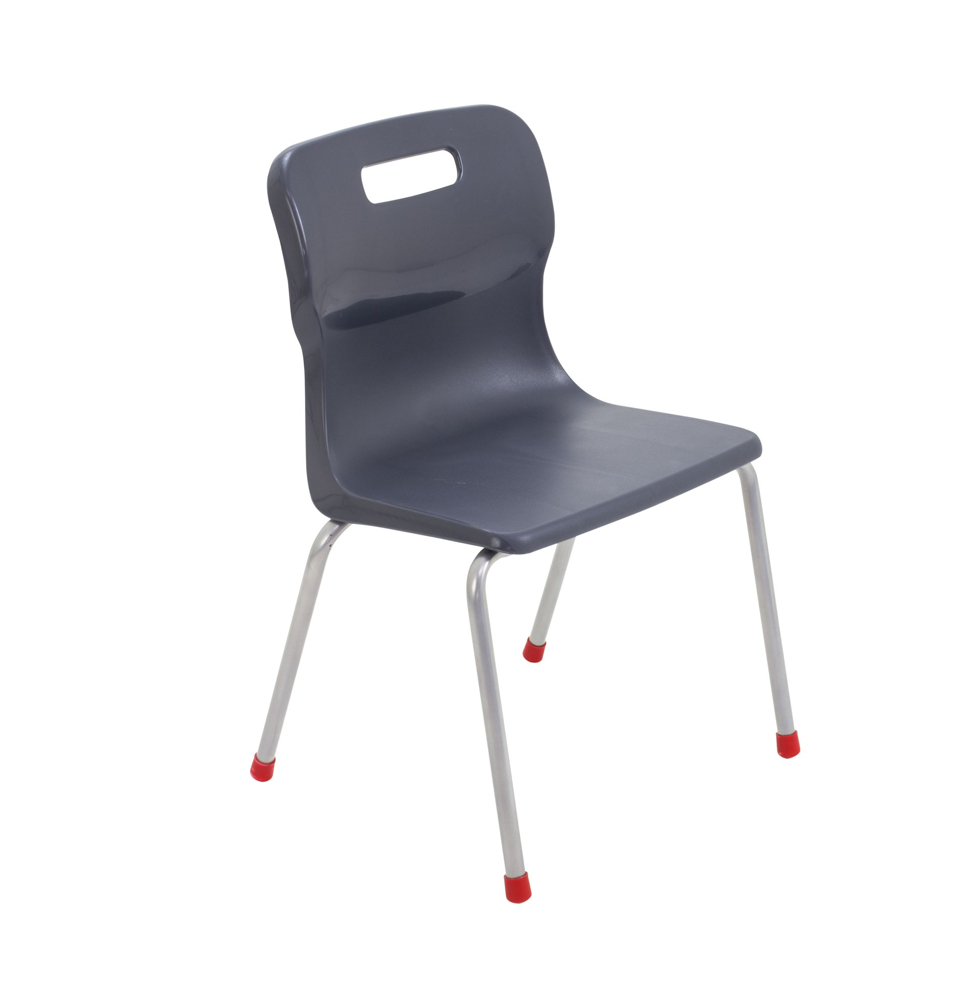 Titan Charcoal Size 4 School Chair With 4 Legs KF72187