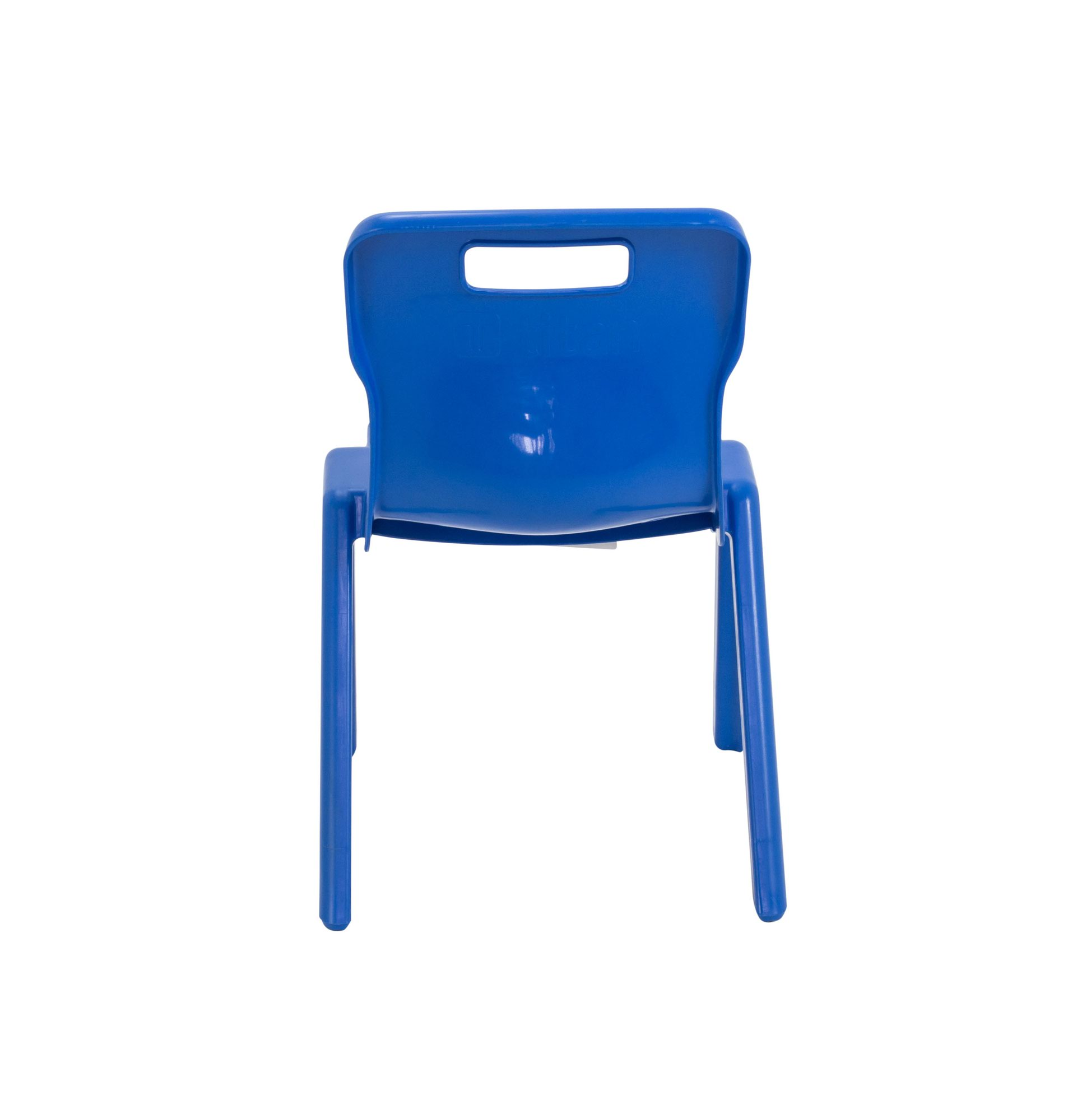 Plastic Titan One Piece Classroom Chair Ages 3-5 Years Size 2 Pack of 5 Blue