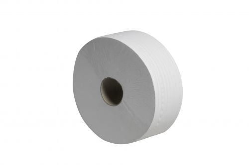 Tecman Jumbo Recycled Toilet Roll 90mm X 300M 60mm Core 855 Sheets Case 6 3P