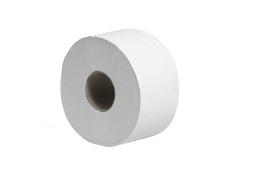 Tecman Mini Jumbo Recycled Toilet Roll 90mm X 150M 60mm Core 428 Sheets Case 12