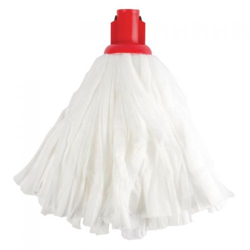 Big White Socket Mop Red