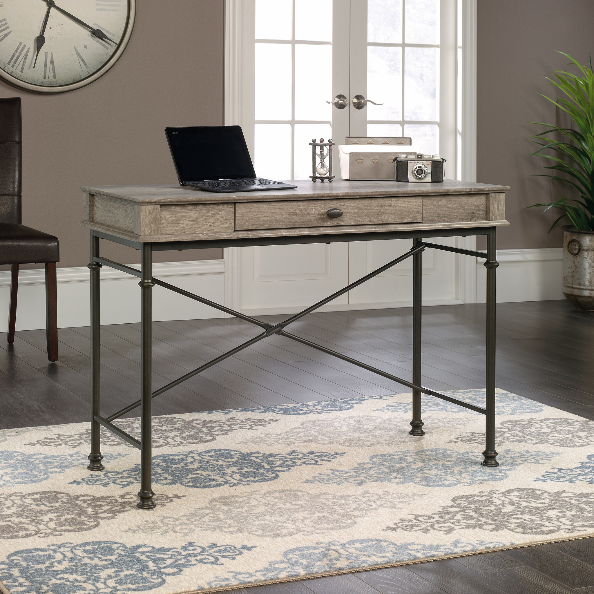 Teknik Office Canal Heights Console Desk in Northern Oak Finish