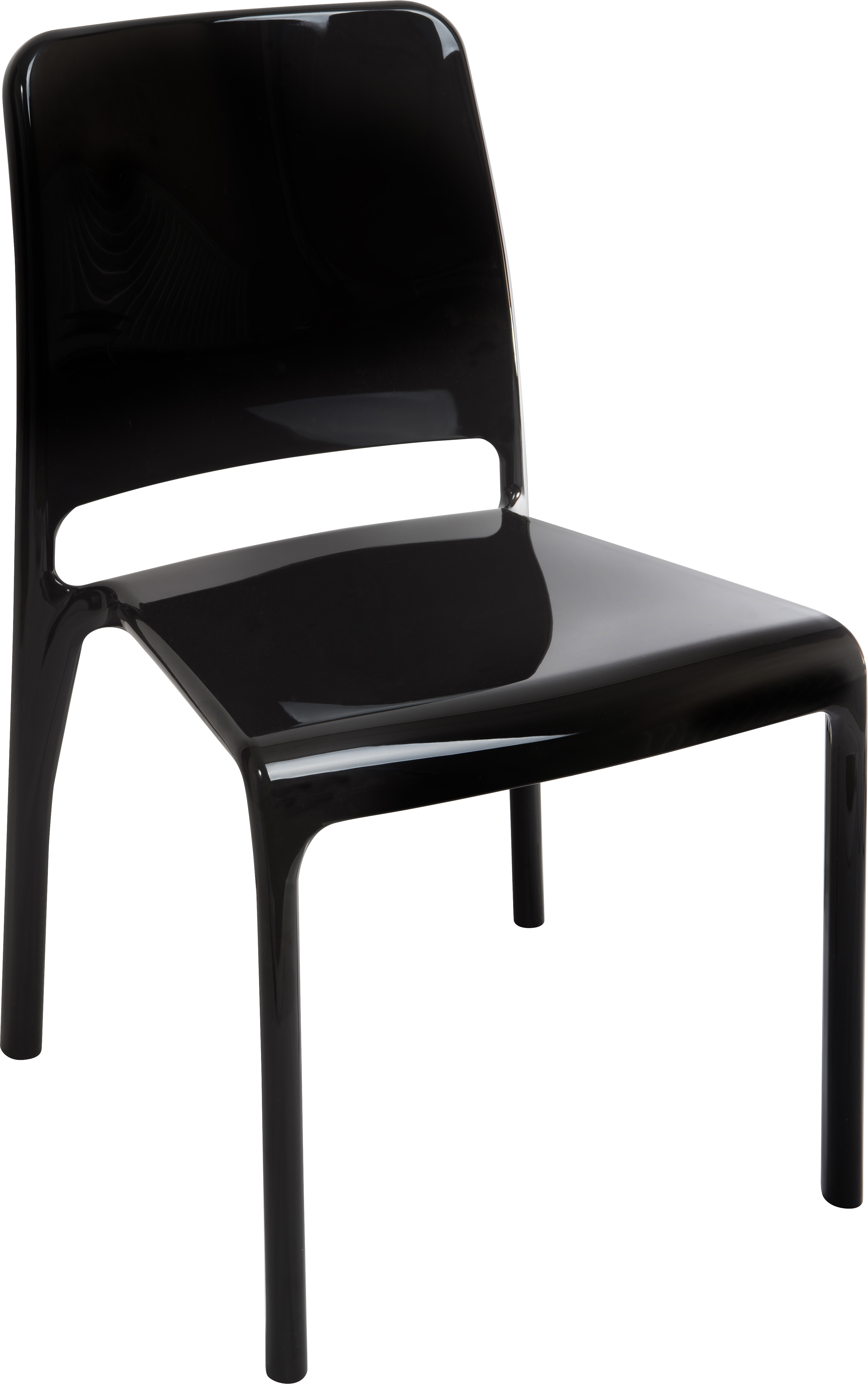 Teknik Office Clarity Black Stackable Polycarbonate Chair Sold In Packs Of 4