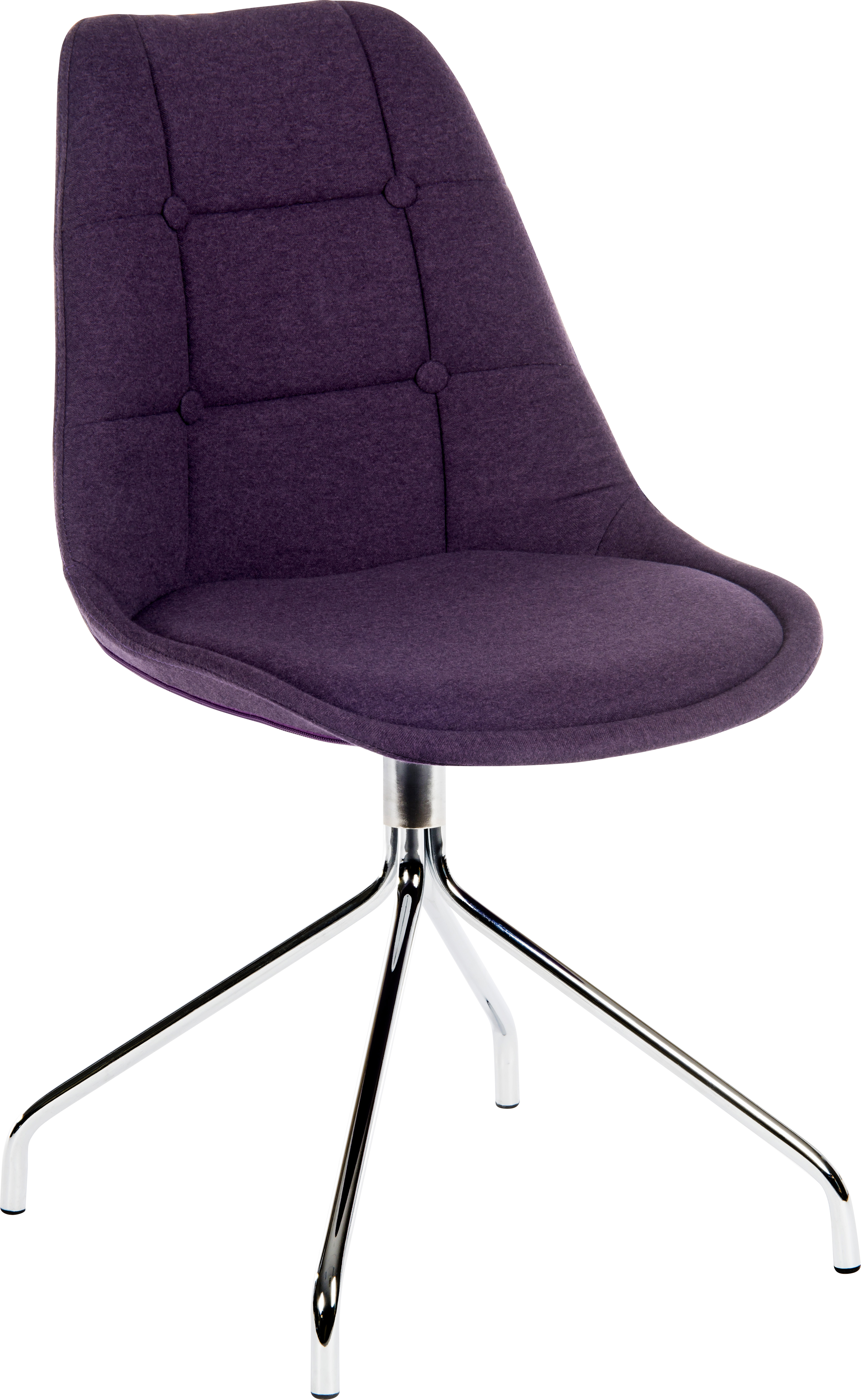 Teknik Office Breakout Chair (Pack of 2) In Plum Colour Soft Brushed Fabric And Modern Chrome Legs