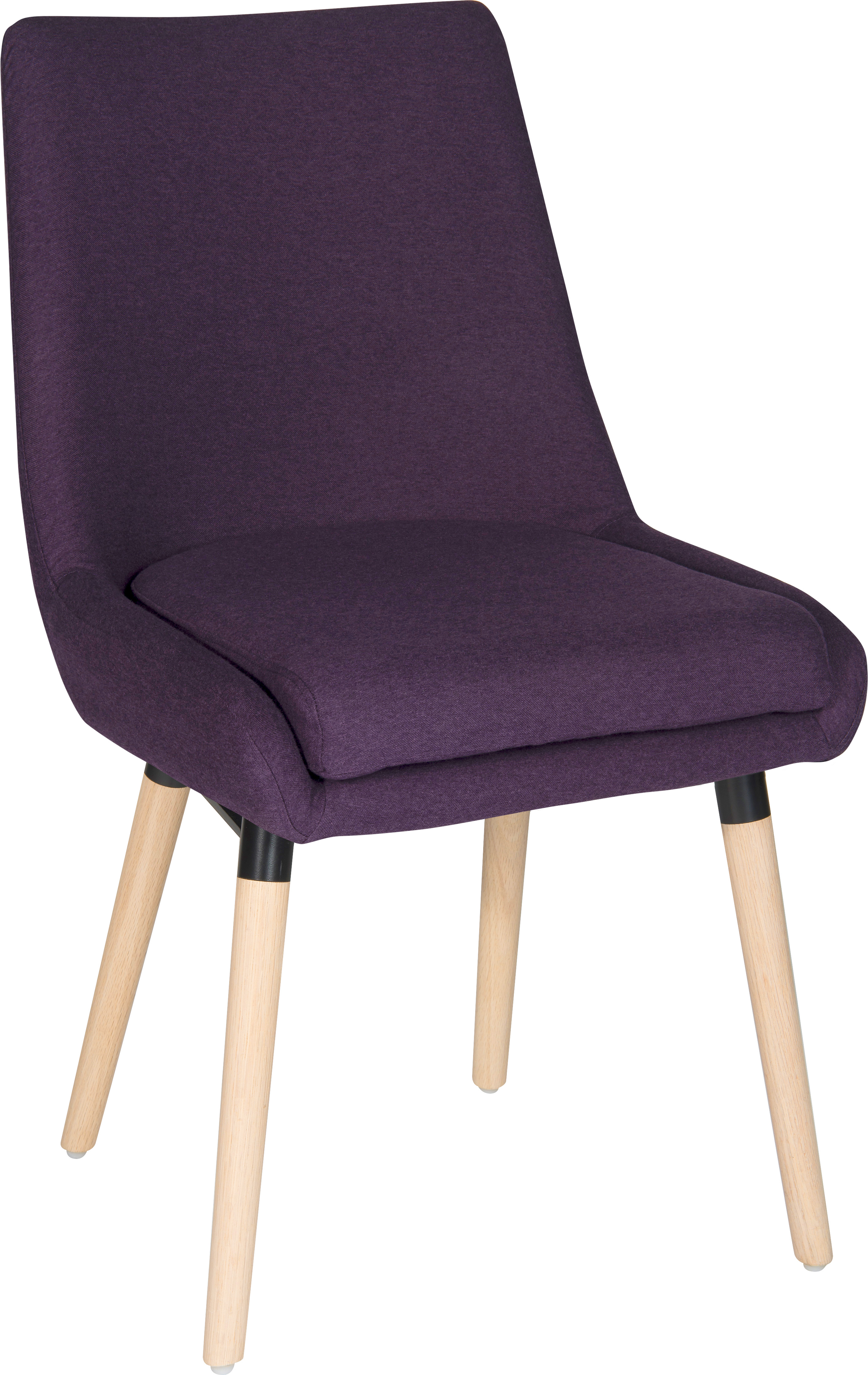 Teknik Office Welcome Reception Chairs Plum Soft Brushed Fabric Wooden Oak Legs Packs Of 2